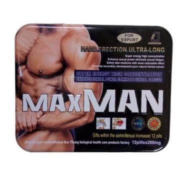 Max Man Hard Erection/Super Energy Enhance Sexual Power Supplement (For Men)